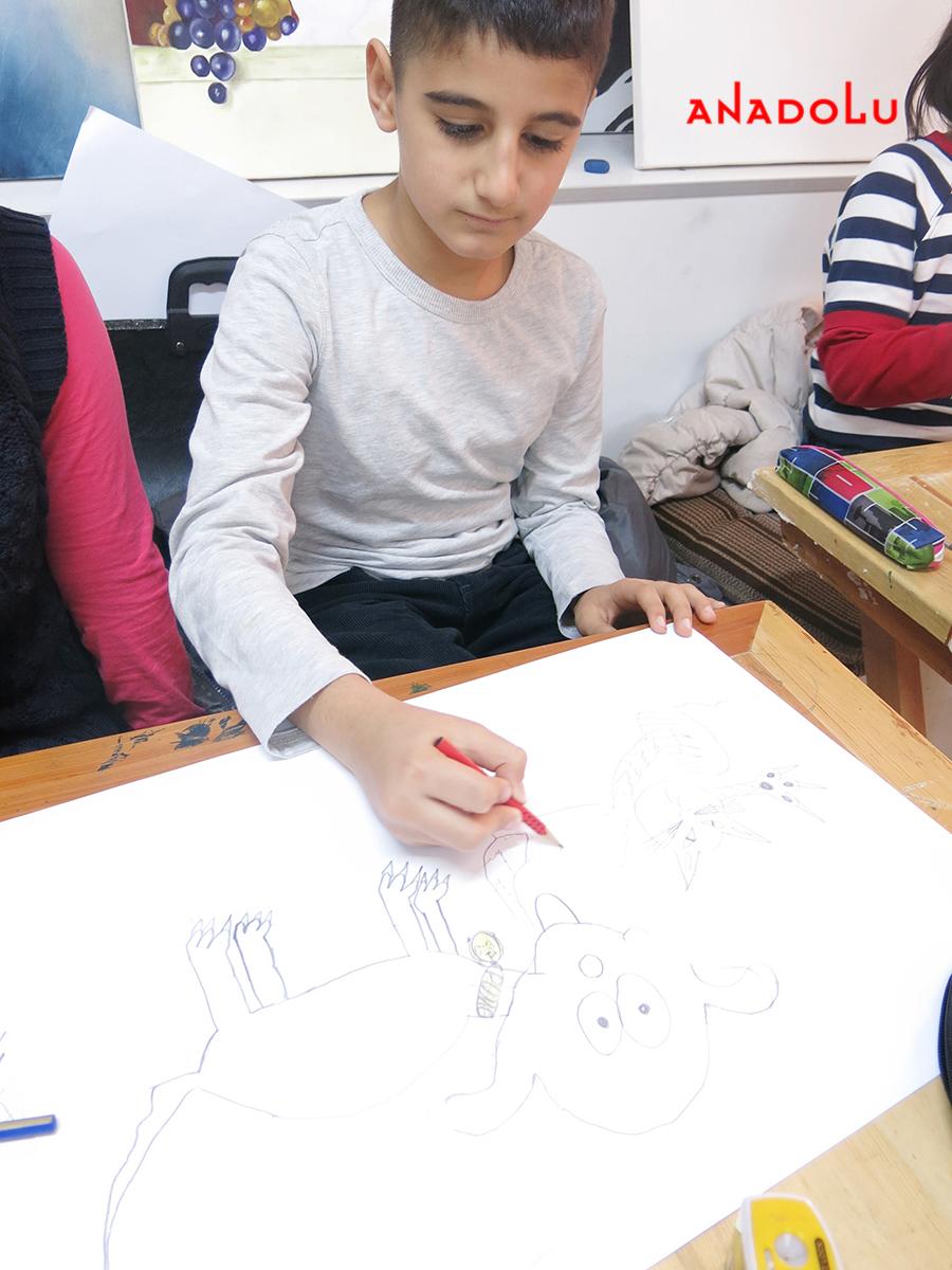 Çocuklar İçin Karakalem Eğitimleri Çukurovada
