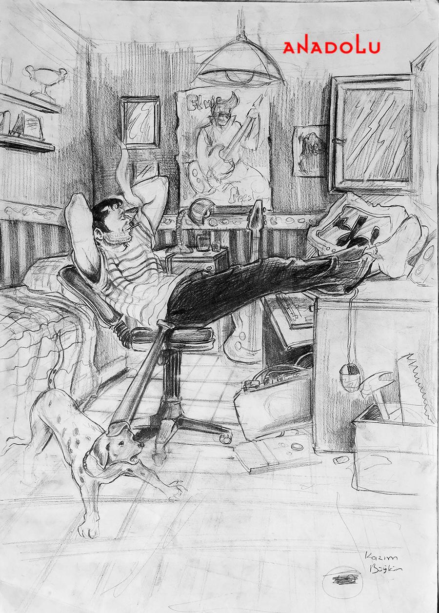 Güzel Sanatlar Fakülteleri İçin Kara kalem Çizimler Çukurovada