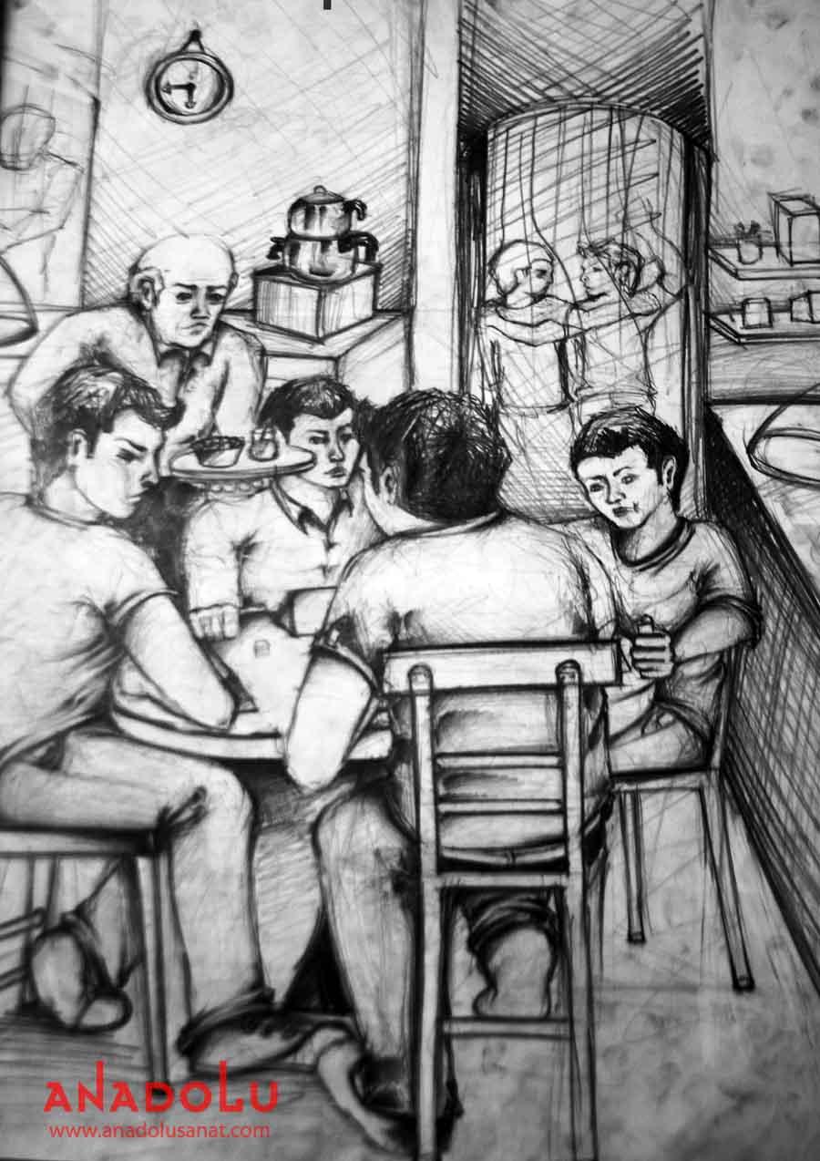Çukurovada Güzel Sanatlar Fakülteleri İçin Kara kalem Çizim Çalışmaları