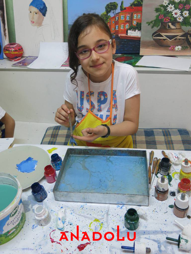 İzmir'de Çocuklar İçin Özel Ebru Kursları
