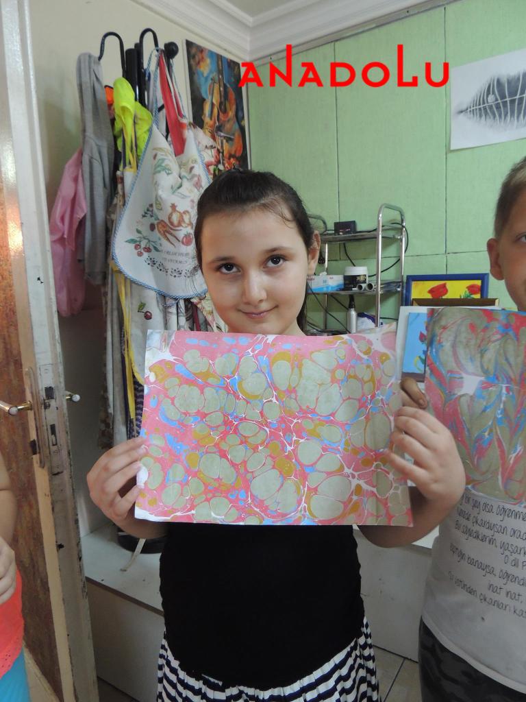 Kayseride Çocuklara Yönelik Özel Ebru Eğitimleri