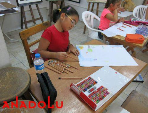 Kayserideki Çocuklar Karakalem Işık Çalışmaları