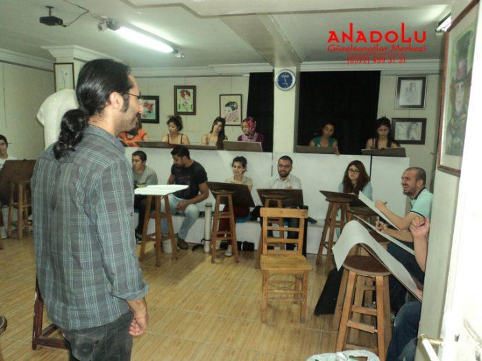 Anadolu Güzel Sanatlarda Karakalem Kursları Çukurovada