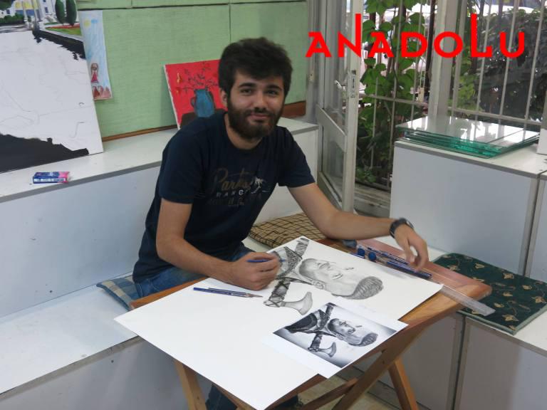 Karakalem Çalışan Hobi Grubu Çizimleri Çukurovada