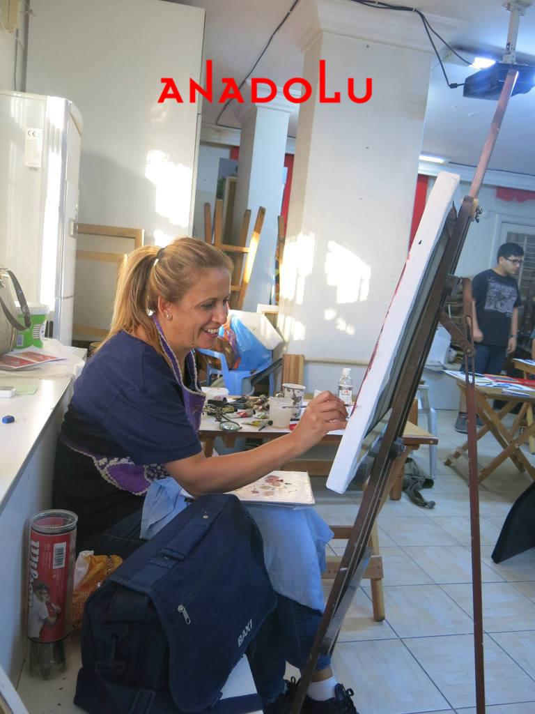 Yağlı boya Çalışmaları Hobi Grubu Dersleri Çukurovada