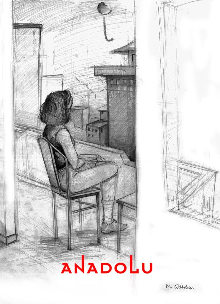İmgesel Balkonda Oturan Kadın Çalışması Çukurovada