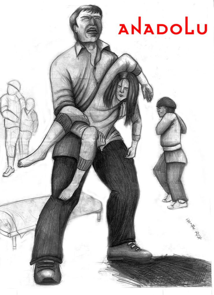 Çukurovada karakalem babası ve kızı