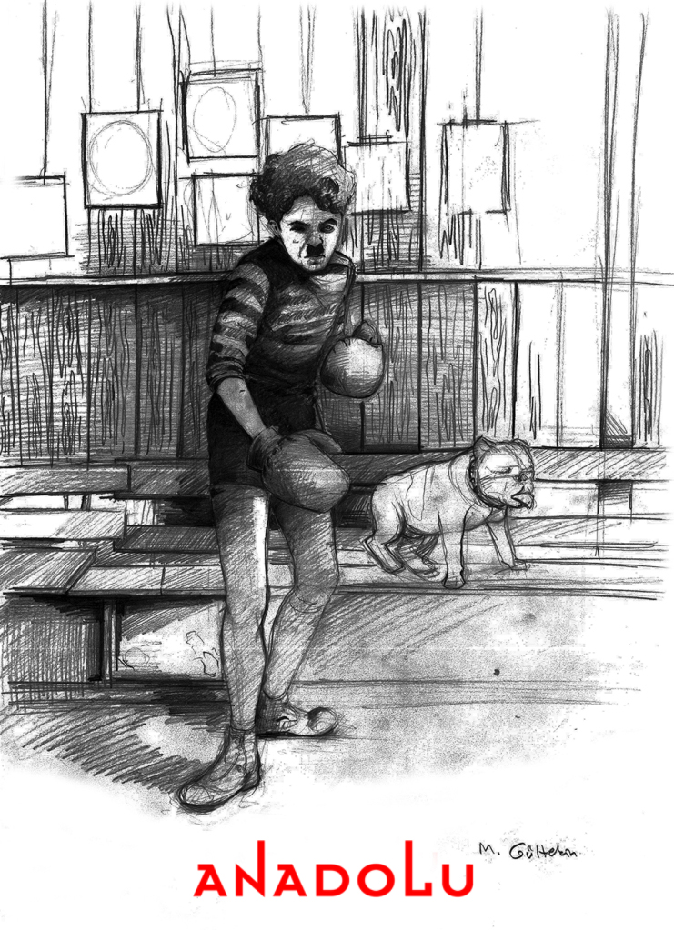 karakalem Charlie Chaplin Çizimleri Çukurovada