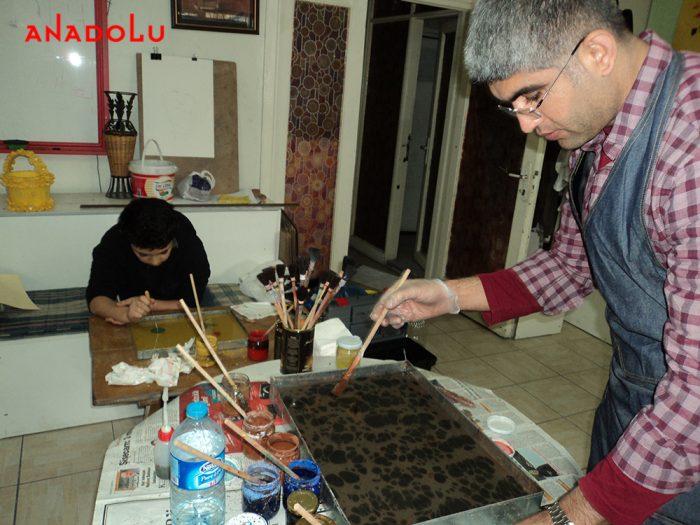 Kayseride Ebru Eğitimleri